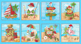 Holiday Beach Blocks Blue 958375