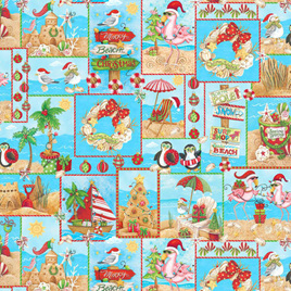 Holiday Beach Patch Blue 958775