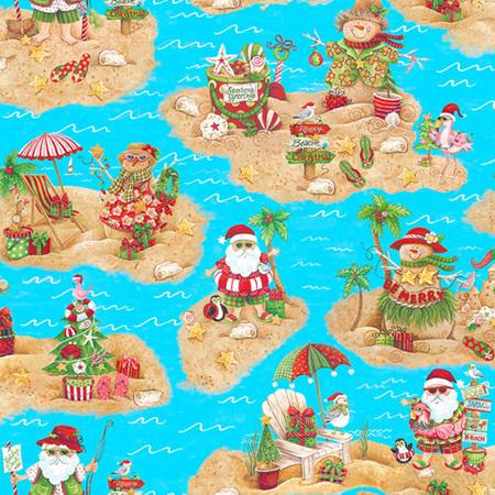 Holiday Beach Scenic Blue 958475
