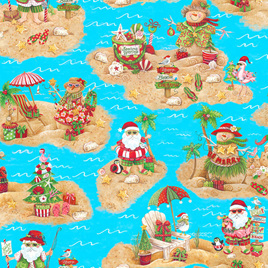 Holiday Beach Scenic Blue 958475
