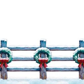 "Holiday Fence Border 20"" x 30'"