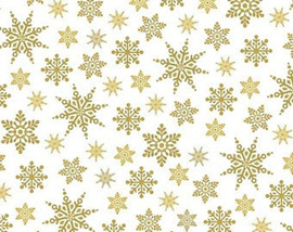 Holiday Village Gold Snowflakes 40302AM
