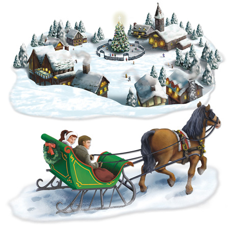 Holiday Village & Sleigh Ride Props
