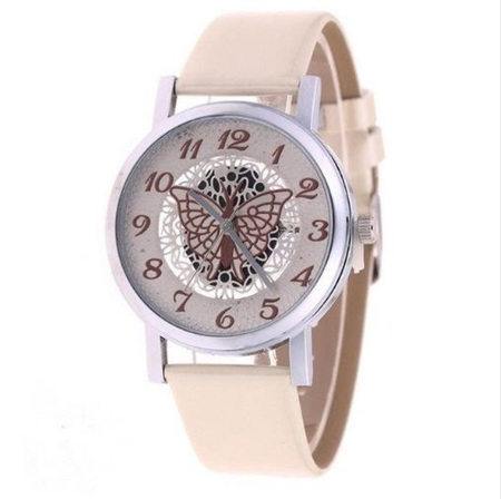 Hollow Butterfly Ladies Watch *Cream*