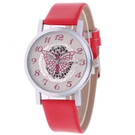 HOLLOW BUTTERFLY WATCH  - RED