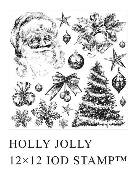 Holly Jolly IOD Decor Stamp