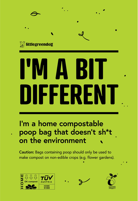 Home compostable on non-food crop gardens