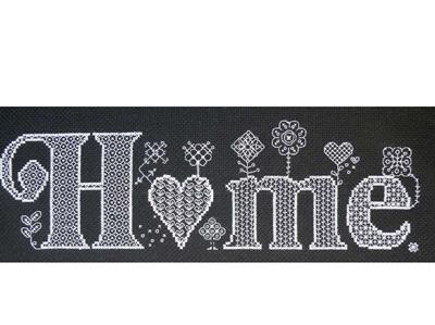 Home cross stitch/blackwork kit