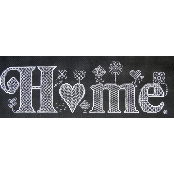 Home cross stitch chart