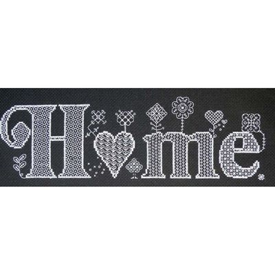 Home cross stitch/blackwork chart