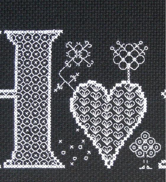 Home cross stitch/blackwork chart