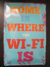 Home is Where... Tin Sign