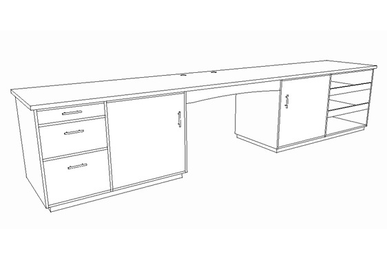 Home Office Desk Designed & Made to Order Solid Wood bloomdesigns NZ
