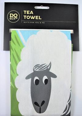 Home Sweet Home Cotton Teatowel: Sheep