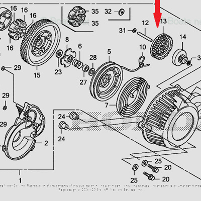 Honda  Gear for EU3000IS Generator