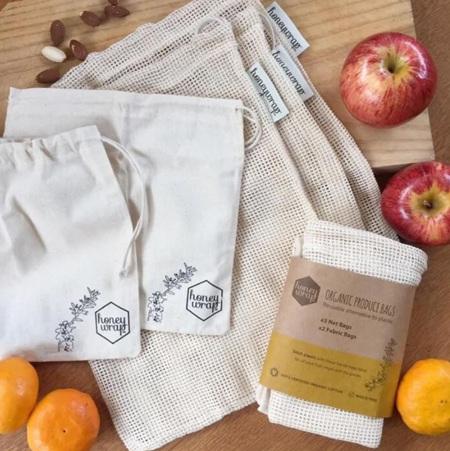 Honeywrap Five-pack of Organic Produce and Bulk Bin Bags