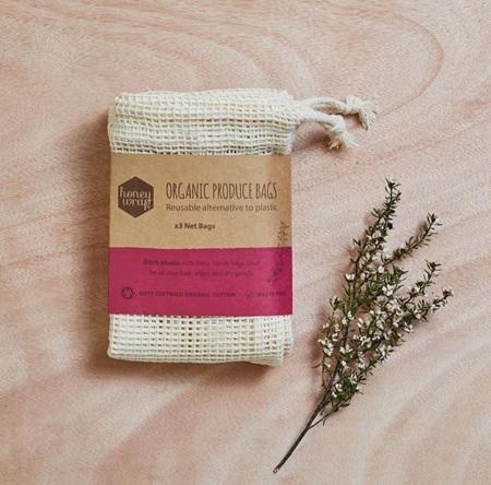 Honeywrap Three pack Organic Produce Bags - 3 pack