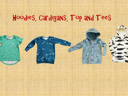 Hoodies, Cardigans, Tops and Tees