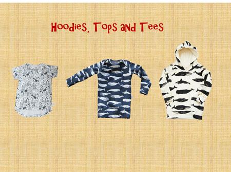Hoodies, Tops and Tees