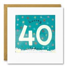 Hooray 40 - Shakies card