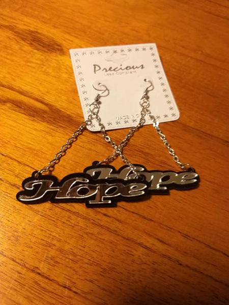 Hope Earrings - Silver & Black