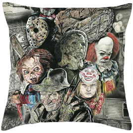 Horror Film Buff Cushion Cover
