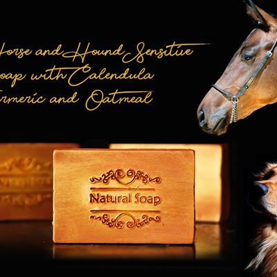 Horse & Dog Sensitive Soap with Calendula, Turmeric & Oatmeal 110g