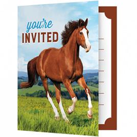 Horse foldover invites