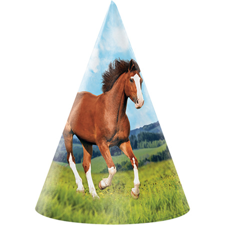 Horse party cone hats x 8