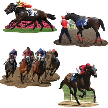 Horse Racing Cutouts - Doublesided
