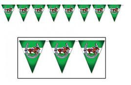 Horse racing plastic pennant banner