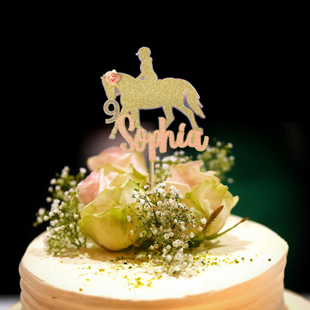Horse Riding Cake Topper Personalised