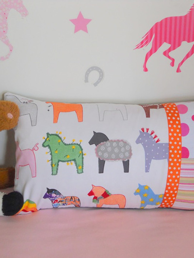 Horsey Cushion with Feather Inner