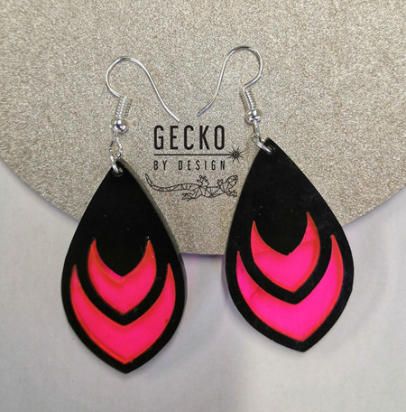 Hot Pink Earrings