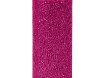 Hot pink glitter tulle