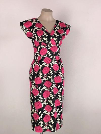 Hot pink rose Jeanie dress