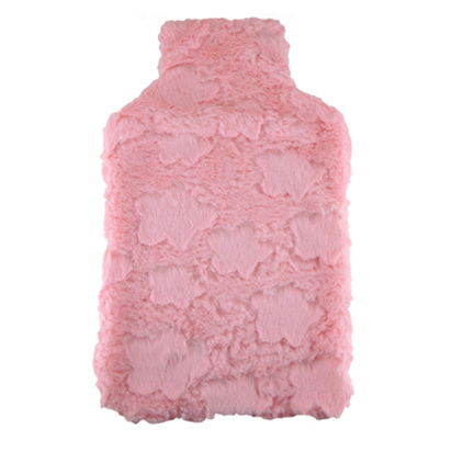 HOT WATER BOTTLE COVER PINK PLUSH