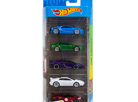 Hot Wheels 5-Car Gift Pack - HW Exotics