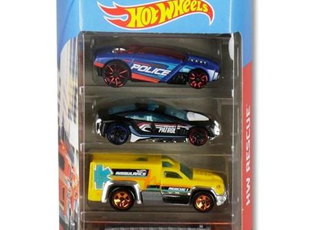 Hot Wheels 5-Car Gift Pack - HW Rescue
