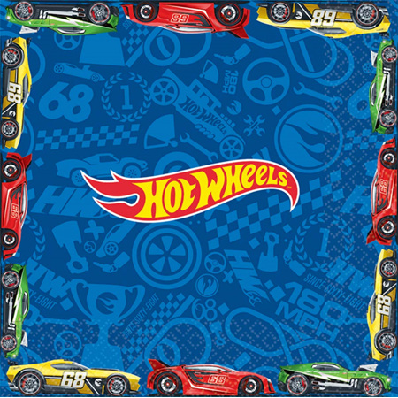 Hot Wheels lunch napkins