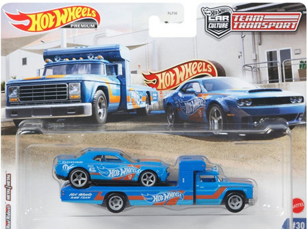 Hot Wheels Team Transport 18 Dodge Challenger SRT Demon & Retro Rig