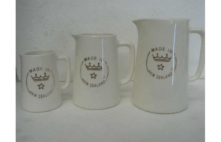 Hotel Jug sizes, H#1 is on the left, H#3 middle, H#4 on the right