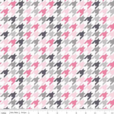 Houndstooth Pink/Grey