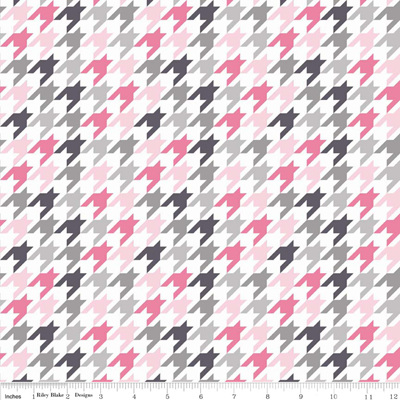 Houndstooth Pink/Grey