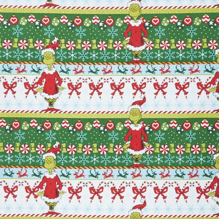 How the Grinch Stole Christmas Grinch White Candy Stripe ADE-73330-1