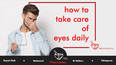 how to take care of eyes daily ?