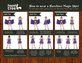 How to tie your Hazeltree Magic Skirt