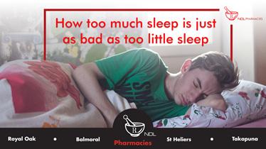 how too much sleep