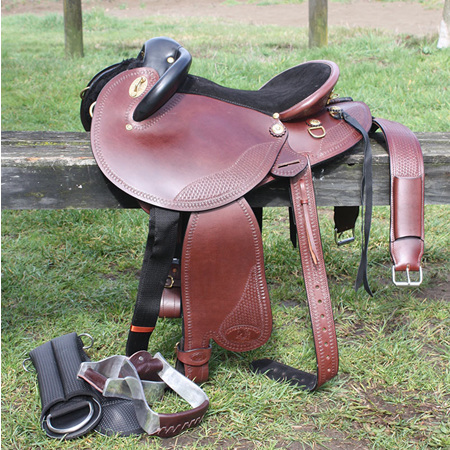 "HP Swinging Fender Saddle 15"" QH tree"