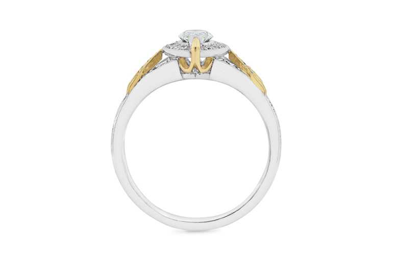 Hudson from The Decades Collection - Vintage Style Marquise Diamond Cluster Ring